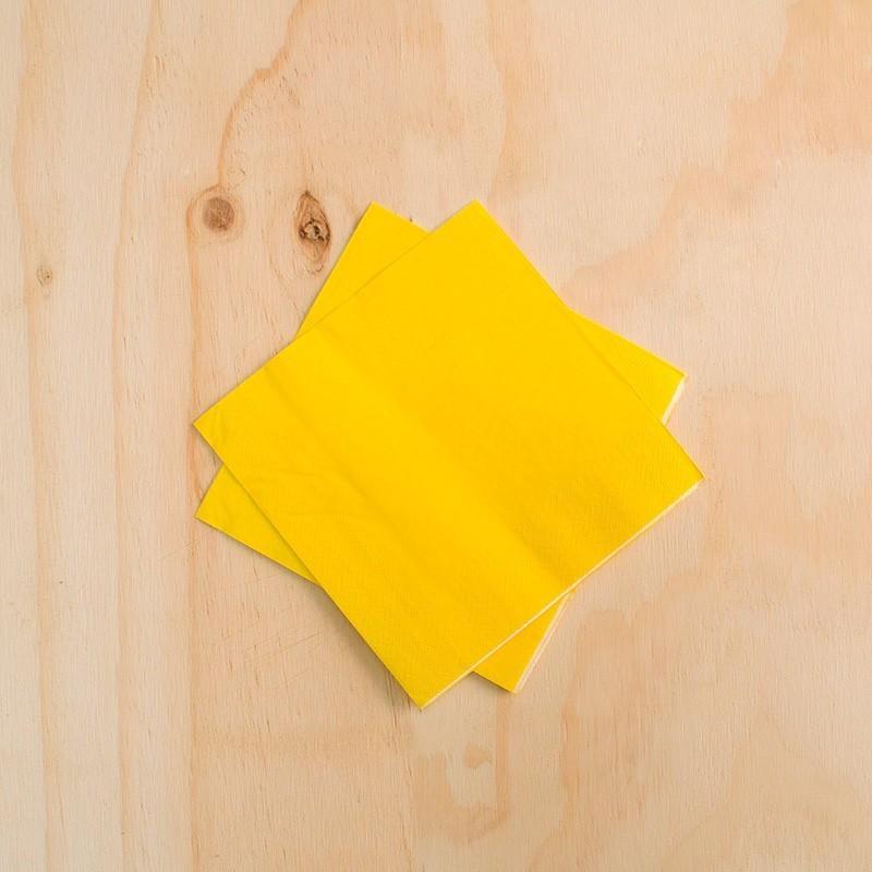 Servilletas amarillas x 20