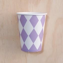 12 Vasos rombos lila