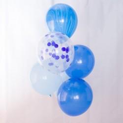 Mix de globos tonos azul