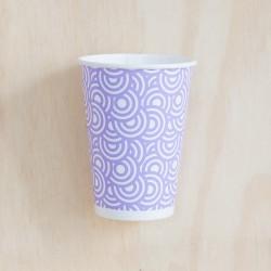 8 Vaso círculos lila