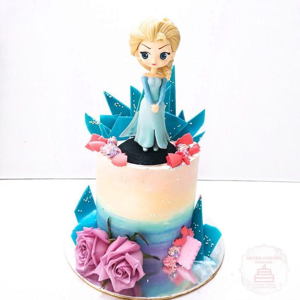 Pastel princesa Elsa de frozen