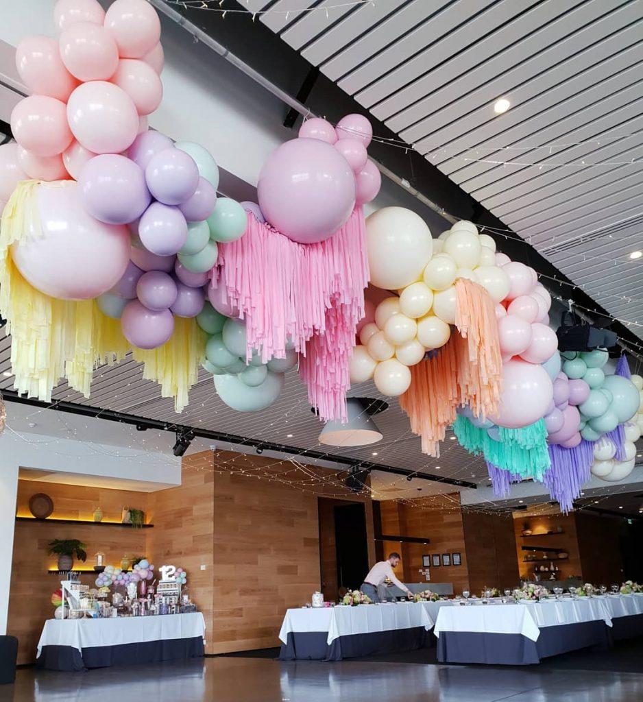 Guirnalda de globos colores pastel