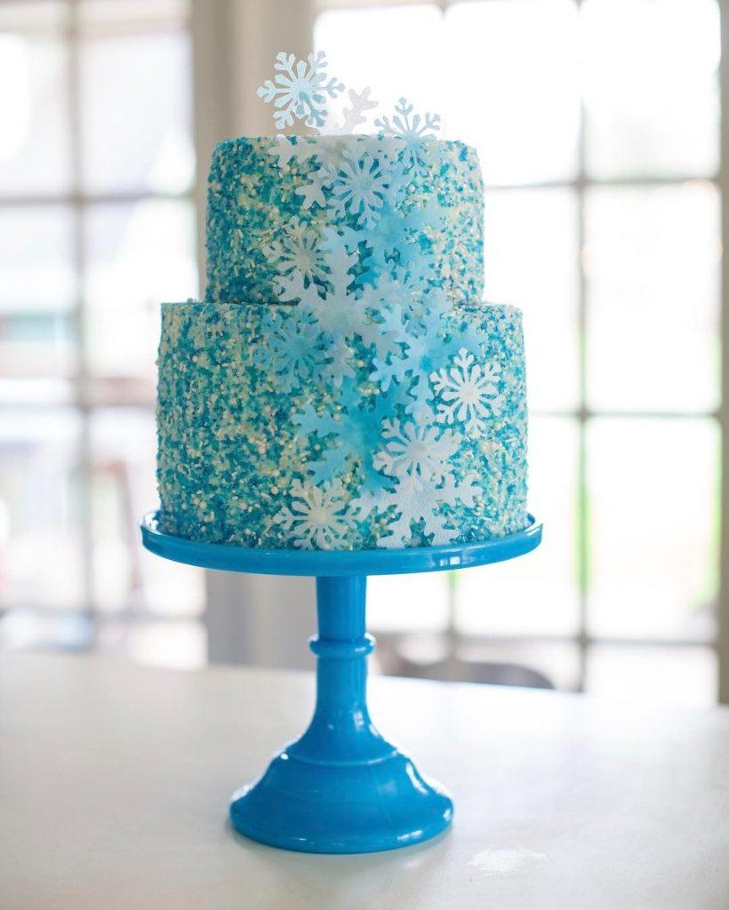 Torta cumpleaños frozen dos pisos