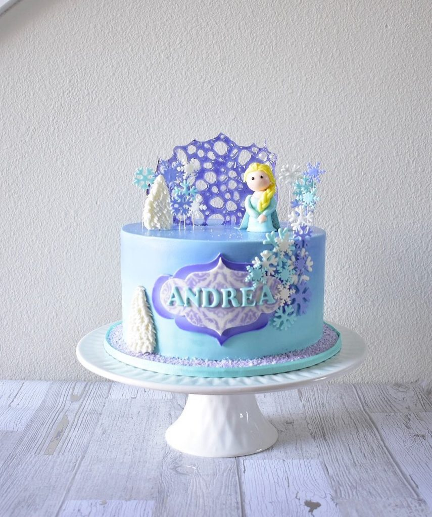 torta elsa y ana bebé
