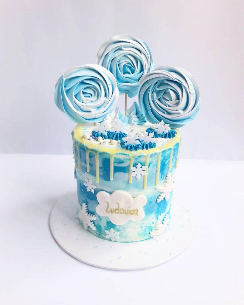 pastel sencillo en crema