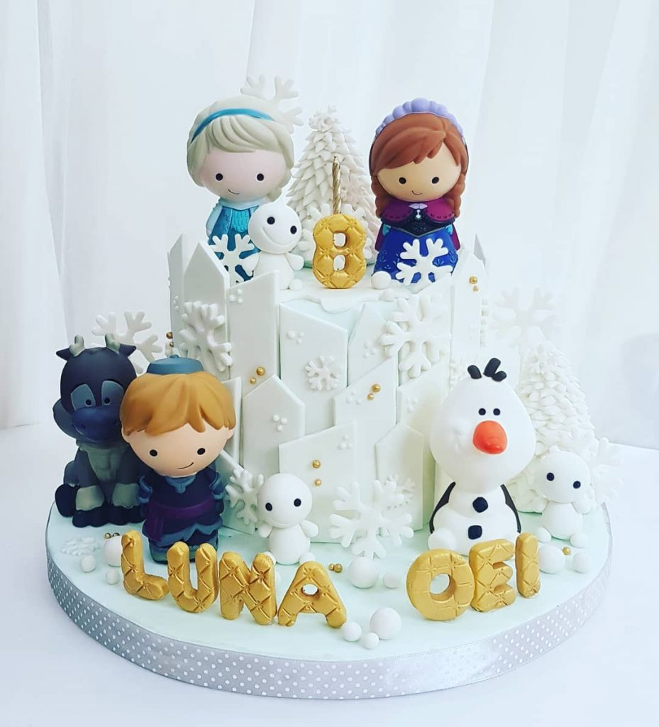 personajes bebés de la película frozen